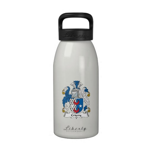 Criery Family Crest Reusable Water Bottles