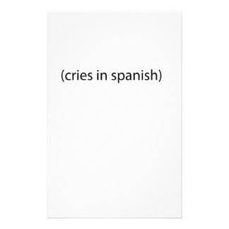 cries in spanish stationery