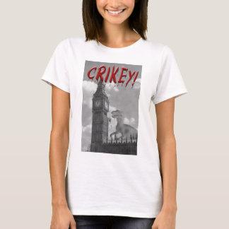 Crikey! A dinosaur attacks the UK T-Shirt