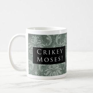 Crikey Moses! Pattern Black Coffee Mug
