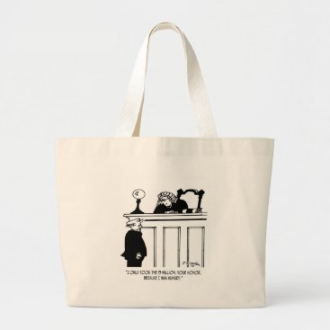 Professional Business Crime Cartoon 3816 Large Tote Bag