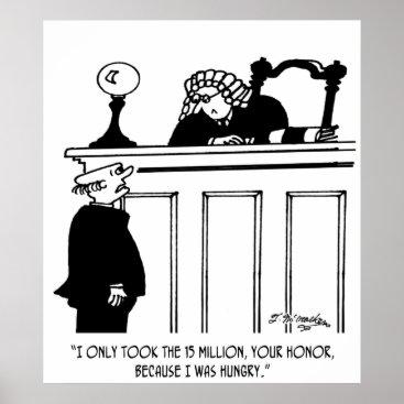 Professional Business Crime Cartoon 3816 Poster