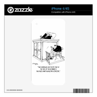 Crime Cartoon 5495 Decal For iPhone 4S
