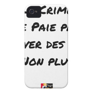 Crime doesn't pay To save Lives Either iPhone 4 Case