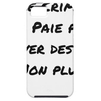 Crime doesn't pay To save Lives Either iPhone SE/5/5s Case