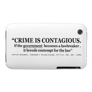 Crime is Contagious Olmstead v United States iPhone 3 Case