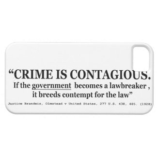 Crime is Contagious Olmstead v United States iPhone SE/5/5s Case