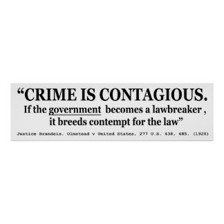 Crime is Contagious Olmstead v United States Posters