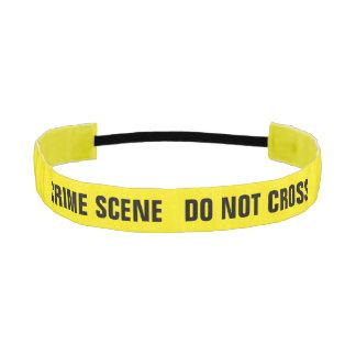 Crime scene athletic headband