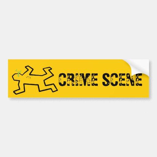 Crime Scene Car Bumper Sticker