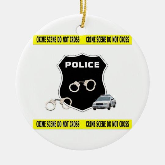 Crime Scene Ceramic Ornament