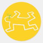 Crime Scene Classic Round Sticker