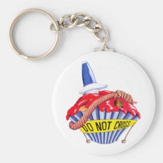 Crime Scene Cupcake Keychain