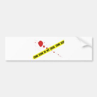 Crime Scene Do Not Cross Bumper Sticker