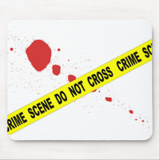 Crime Scene Do Not Cross Mouse Pad