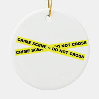 Crime Scene - Do Not Cross Christmas Ornaments