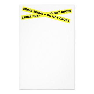 Crime Scene - Do Not Cross Stationery
