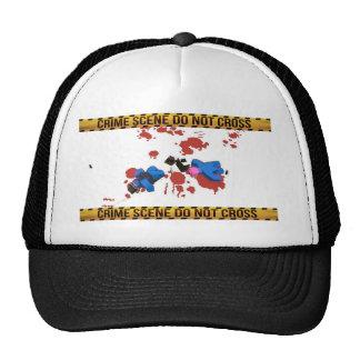 Crime Scene Do Not Cross Unturned Merchandise Trucker Hat