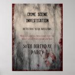 Crime Scene Investigation Birthday Welcome Poster