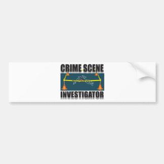CRIME SCENE INVESTIGATOR BUMPER STICKER