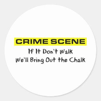 Crime Scene Investigator Classic Round Sticker