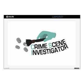 "Crime Scene Investigator Decals For 17"" Laptops"
