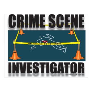 CRIME SCENE INVESTIGATOR POSTCARD