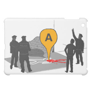 Crime Scene Map with Police and Body Outline Cover For The iPad Mini
