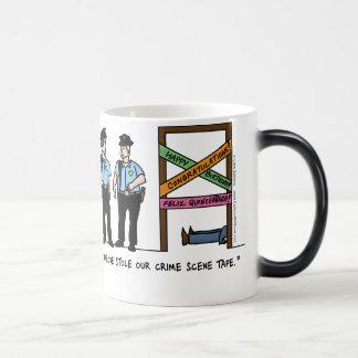 Crime Scene Morphing Mug