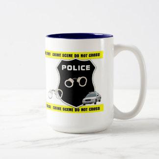 Crime Scene Two-Tone Mug