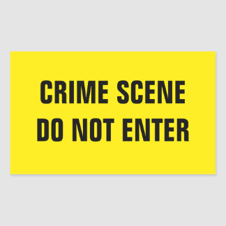 Crime scene rectangular sticker
