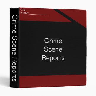 crime scene report binder