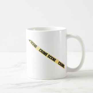 Crime scene ribbon cut out. Transparent background Coffee Mug