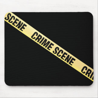 Crime scene ribbon cut out. Transparent background Mouse Pad