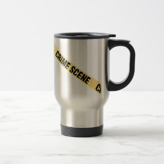 Crime scene ribbon cut out. Transparent background Travel Mug