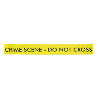 Crime Scene Ribbon Satin Ribbon