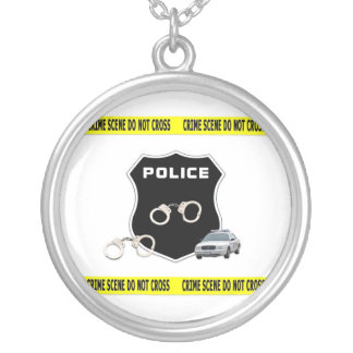 Crime Scene Silver Plated Necklace