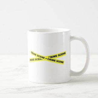 Crime Scene Tape Classic White Coffee Mug