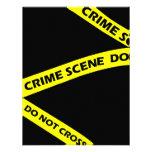 Crime Scene Tape Murder Mystery Party Invitation