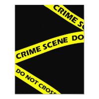 Mystery invitations announcements zazzle crime scene tape murder mystery party invitation stopboris Images
