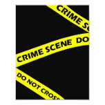 """Crime Scene Tape Murder Mystery Party Invitation 4.25"""" X 5.5"""" Invitation Card"""