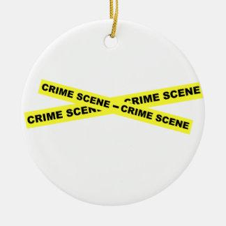 Crime Scene Tape Christmas Ornament