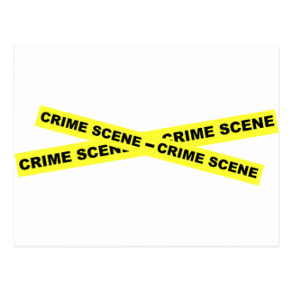 Crime Scene Tape Postcard