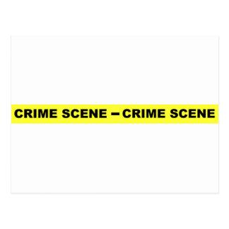 Crime Scene Tape Postcard