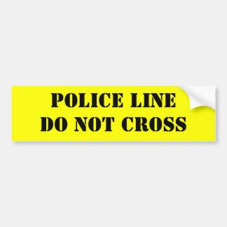 """Crime Scene""  Theresa Hartman Bumper Sticker"