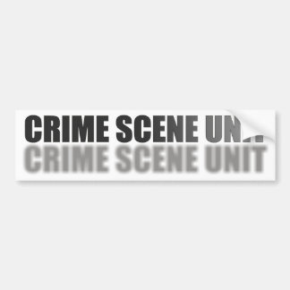 CRIME SCENE UNIT BUMPER STICKER
