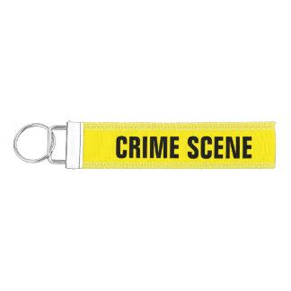 Crime scene wrist keychain