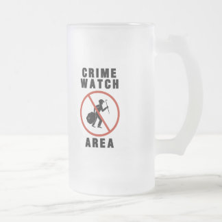 Crime Watch Area Sign Coffee Mugs