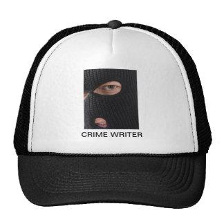 CRIME WRITER TRUCKER HAT