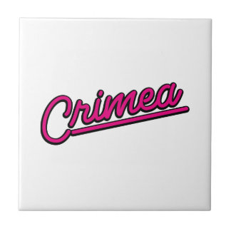 Crimea en magenta azulejos
